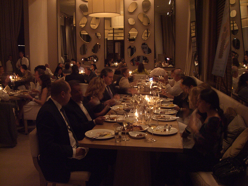 Closing Dinner at Bianca Restaurant at Delano Hotel Miami Beach - XI Cinema Italy<br />