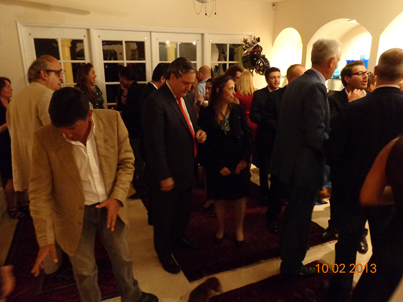 Cocktails at the private residence of the General Consul of Italy<br />