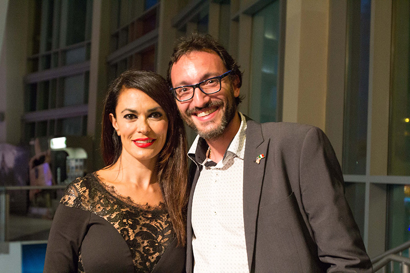 Meet & Greet: Cinema Italy's godmother - actress & producer Maria Grazia Cucinotta visiting our audience at the Regal Cinema Miami Beach<br />