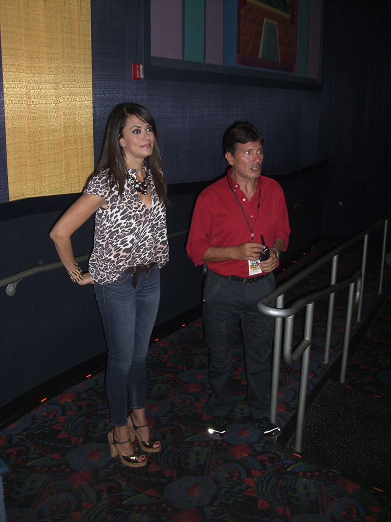 Cinema Italy's godmother - actress & producer Maria Grazia Cucinotta visiting our audience at the Regal Cinema Miami Beach<br />