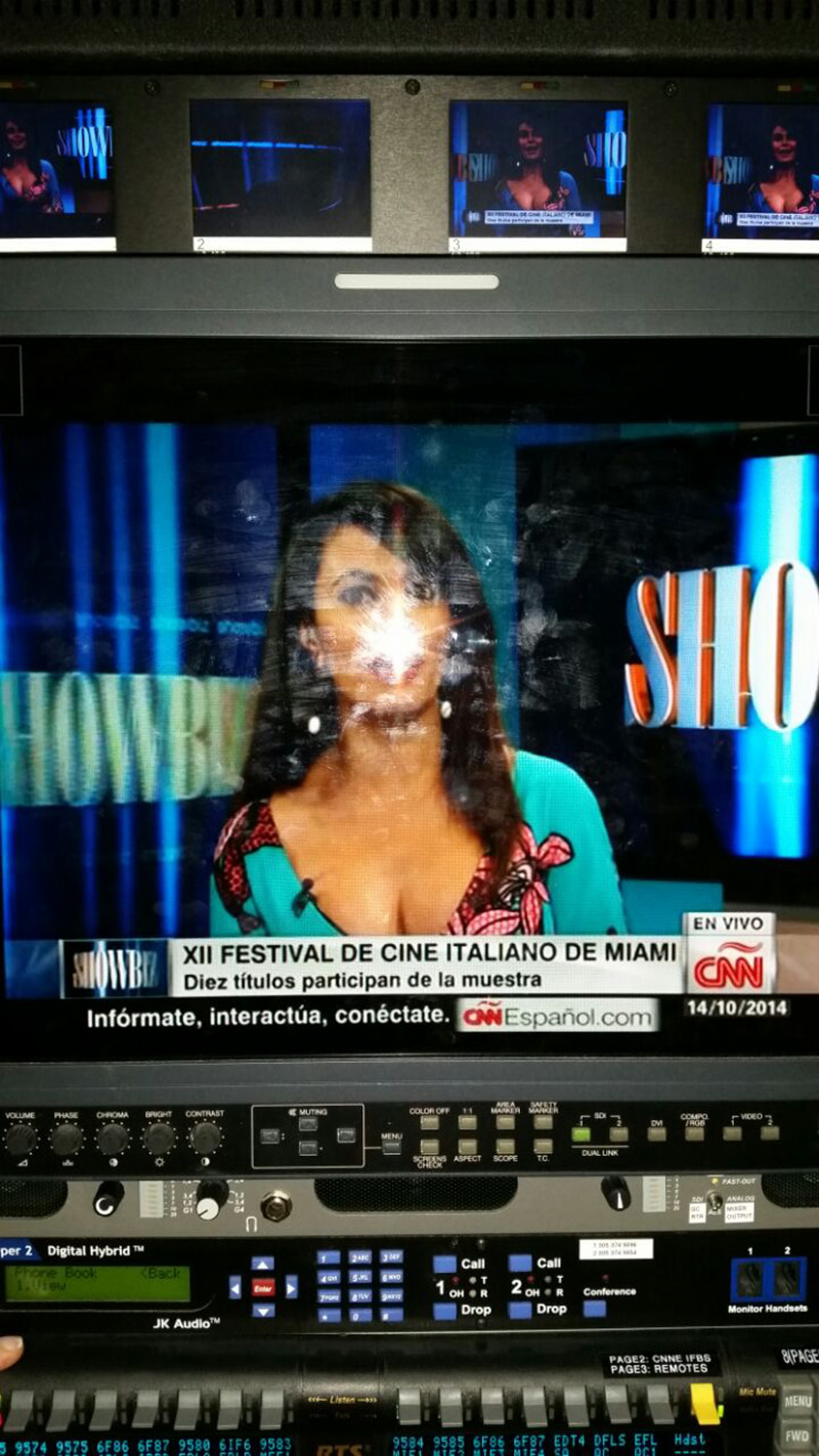 Cinema Italy's godmother - actress & producer Maria Grazia Cucinotta at CNN espanol<br />