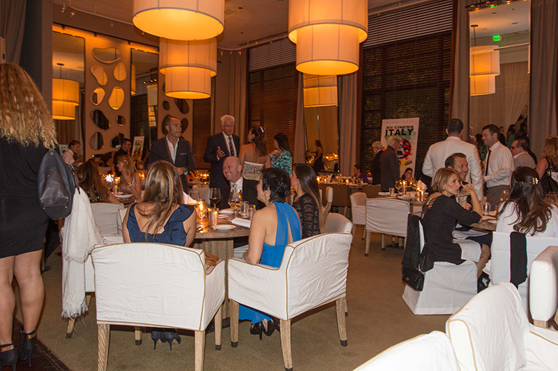 Closing Dinner at Bianca Restaurant at Delano Hotel Miami Beach - XII Cinema Italy <br />