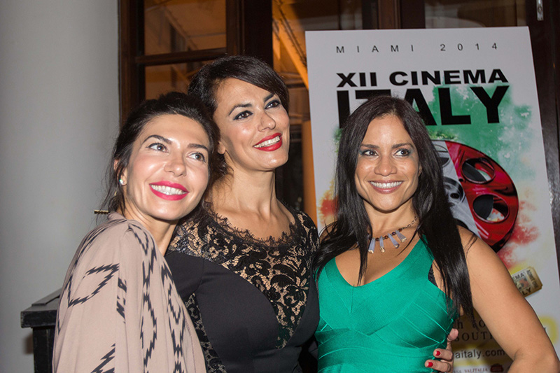 Meet & Greet with Cinema Italy's godmother - actress & producer Maria Grazia Cucinotta at the Closing Dinner at Bianca Restaurant at Delano Hotel Miami Beach - XII Cinema Italy   <br />