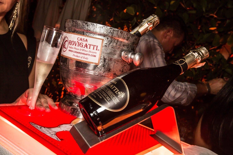Opening Night Party @Delano Miami Beach - with delicious Italian bubbles &amp; desserts by CASA ROVIGATTI - PHOTO COURTESY of @Circo Massimo Entertainment<br />