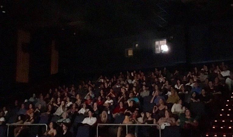 At the screening venue Regal South Beach Cinema  <br />