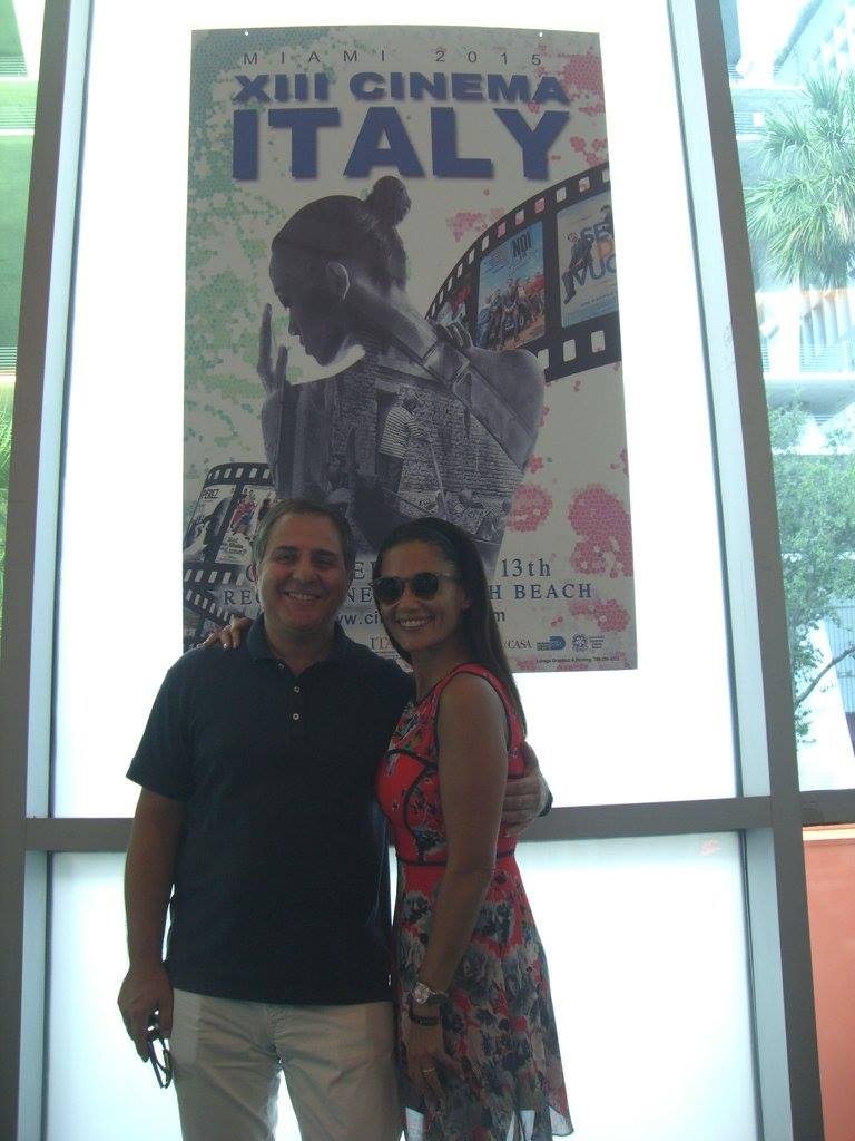 Meet &amp; Greet with Barbara Tabita: Leading actress of Italo Barocco surprised our Cinema Italy audience in the theatre, presenting the film. Here with Antonio Flamini.<br />