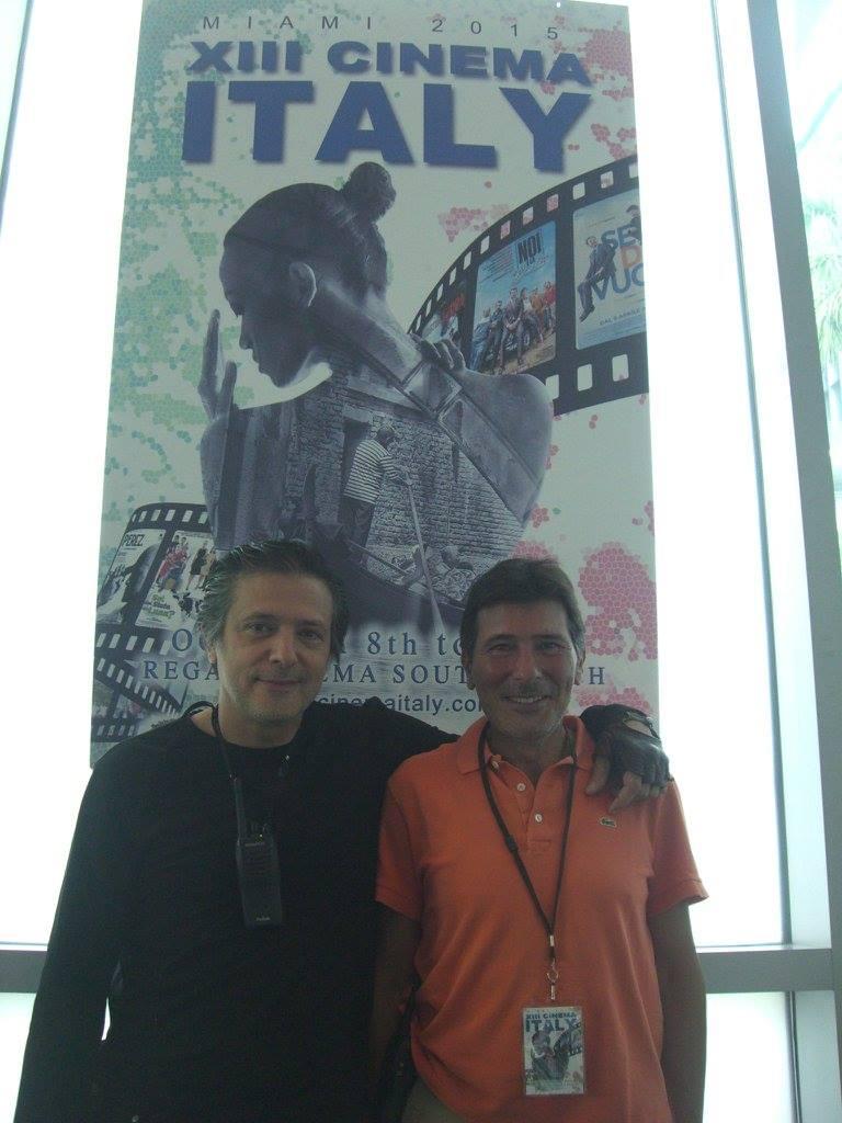 At the screening venue Regal South Beach Cinema  -  here with Victor Di Persia and Claudio Di Persia<br />