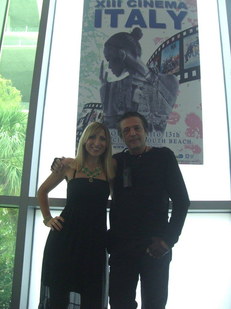 At the screening venue Regal South Beach Cinema  - here with Elena Meier and Victor Di Persia<br />