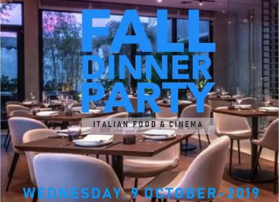 Italy-America Chamber: Fall Dinner Party presenting CINEMA ITALY at DŌMA Restaurant